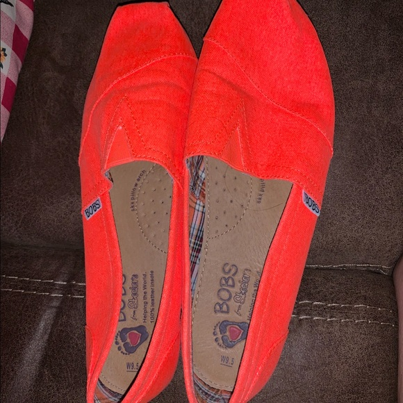 Skechers Shoes | Neon Orange Bobs